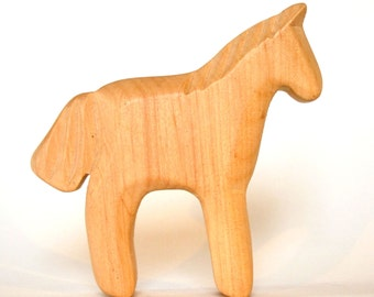 Foal, Waldorf Toy, Wooden Animal