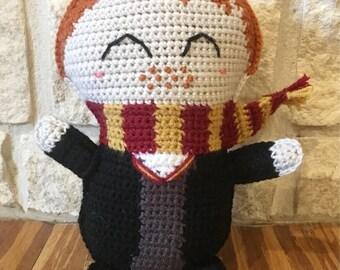 Crocheted Ron Weasley Ragdoll-Crocheted Ron Weasley Plushie-Crocheted Ron Weasley Stuffed Doll-Crocheted Ron Weasley