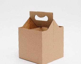 Favor Carrier Box (10), Midnight Snack Box, Kraft Favor Box, Drink Carrier, Wedding Favor Box, Party Favors, To Go Box