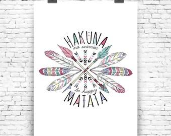 Digital poster Hakuna Matata