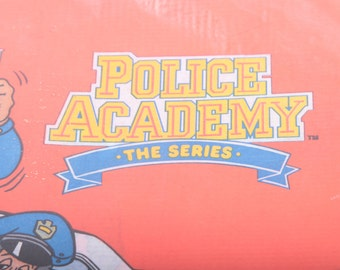 Vintage Party Supply, Police Academy the Series Table Cloth, Rare Birthday Party Paper Ephemera ~ The Pink Room ~ 170519
