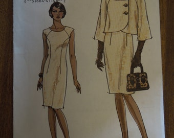 Vogue V8319, sizes 6-12, misses, petite, jacket and lined dress, UNCUT sewing pattern