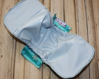 """16"""" postpartum gusseted shell with pockets/ pul backing/ overnight/ incontinence/Made by Mother"""