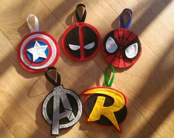 Custom Superhero Christmas Ornaments