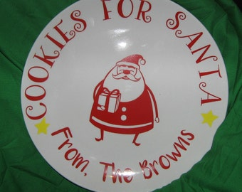 Cookies for Santa plate ....PERSONALIZED!!