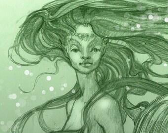 Green Mermaid by Renae Taylor