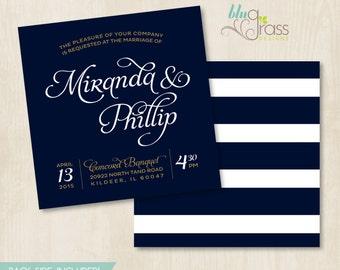 Custom Bridal Shower, Wedding Invitation by BluGrass Designs - Nautica