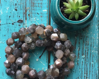 Sunstone Star Cut Nuggets   Chunky 10 mm   Spiritual Junkies   Yoga + Meditation   Stackable Mala Bracelet