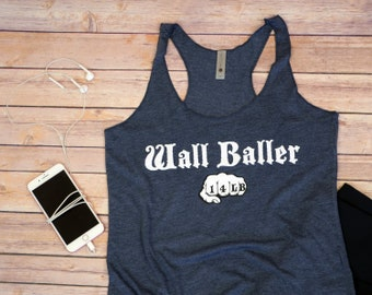Workout Shirt - Wall Baller (14lb) - Crossfit - Crossfit Tank - Funny Workout Tank - Crossfit Gifts For Her - Gym Tank - Workout Tank Top