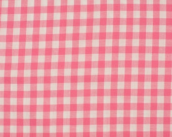 Gingham pink 5mm 100% cotton