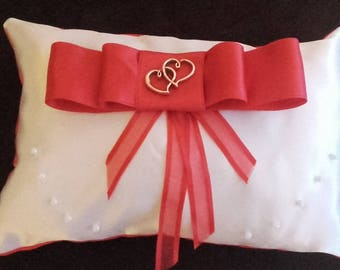 Satin wedding ring pillow cushion