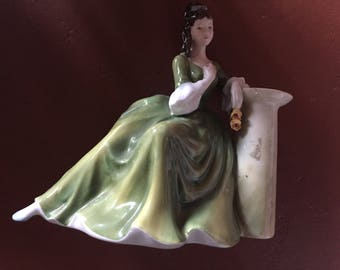 "Royal Dalton Figurine ""Secret Thoughts"" HN2382 discontinued in 1988 Rare Dalton Lady"