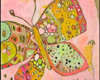 Jennifer Mercede abstract print 'Butterfly High'