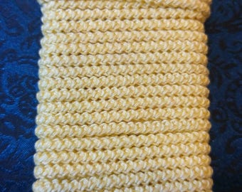 pre made pale yellow size 10  romanian point lace cord