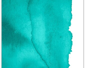 Harmony 01 Canvas, Green Wall Art, Abstract, Paper Print, Modern, Poster, Aqua, Contemporary
