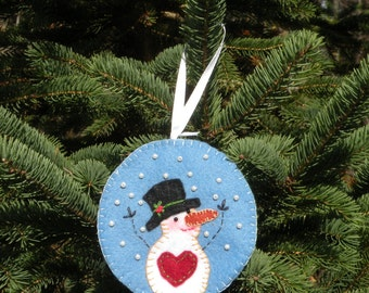 Felt Snowman Ornament Keepsake Pattern Perfect for Gifting, Keeping, or Selling!