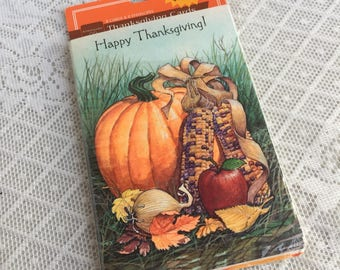 Vintage Thanksgiving Cards and Envelopes / Vintage Greeting Cards Set of Seven Made in USA