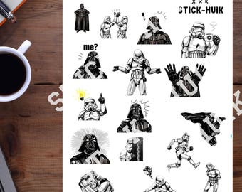Star Wars printable planner stickers pdf stickers printable star war planner sticker planner accessories happy planner monthly kit download
