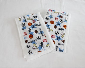 All Star Baby Burp Cloths - Set of 2