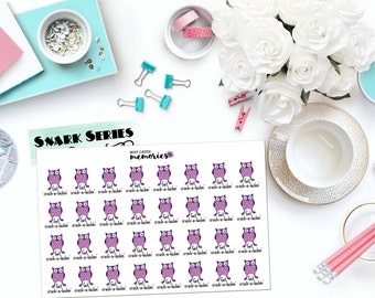 """SNARK SERIES: """"Crack-a-lackin' Owls"""" Paper Planner Stickers!"""