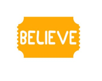 Believe Golden Ticket Decal