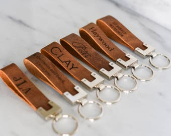 Personalized Leather Keychain Key Fob Key ring Monogrammed Men Man Dad Mother Father Guy Girl The San Blas Keychain