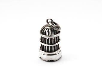 Bird in Cage Sterling Silver Charm