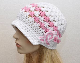 Cancer Hat, Breast Cancer Hat, Ladies Cancer Hat, Cancer Awareness Hat, Ready to SHIP