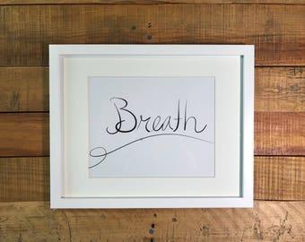 Breath Art Print