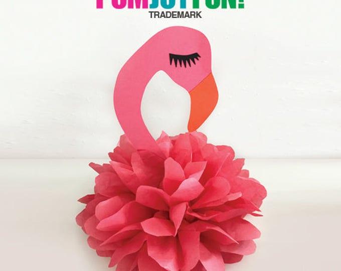 Flamingo Pom Birthday Party Decoration, Flamingo Centerpiece, Flamingo Birthday Decoration, Let's Flamingle Party