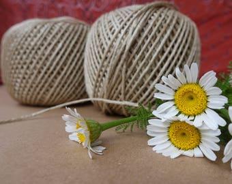 4 Jute balls, Natural Jute Twine, Decorative Craft Twine, DIY Jute Twine, natural Jute string, craft supplies, gift wrapping jute string