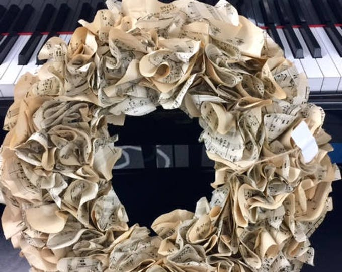 Mothers day vintage music wreath music lover musician professor minister choir director piano teacher birthday office BeachHouseDreamsOBX
