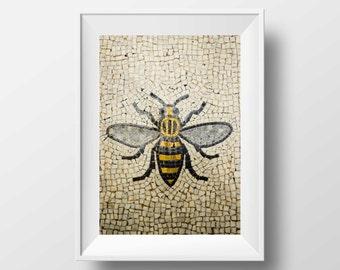 Manchester Bee / Worker Bee / Mancunian / Mosaic / Bee / Industry / Art / Wall Art