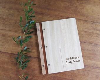 Recipe Folder, Wood Recipe Holder, Customized Recipe Book, Recipe Card Holder