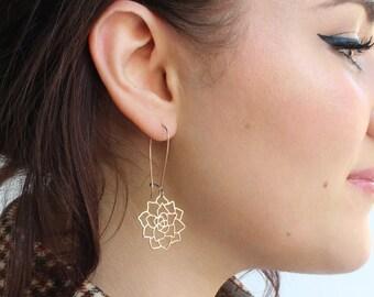 BACKORDERED: Succulent Earrings | Rose Gold | ATL-E-223-R