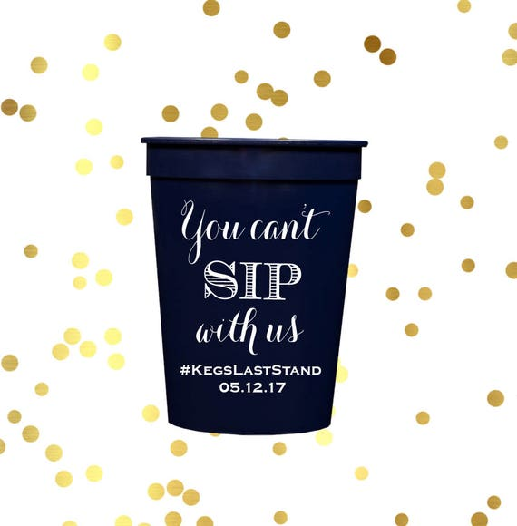 Bachelorette party cups, 21st birthday party cups, Personalized stadium cups, 30th birthday cups, 40th birthday cups, custom plastic cups