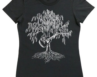 Guitar T Shirt for Women - Regular Fit - Guitar Tees - Music Lover Gift - Guitarist Gift - Bluegrass Gift - Country Music Tshirt Music Tee