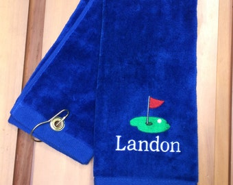 Personalized Monogrammed Golf Towel -- You design it, we create it!