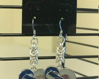 Seahawk Chainmail earrings