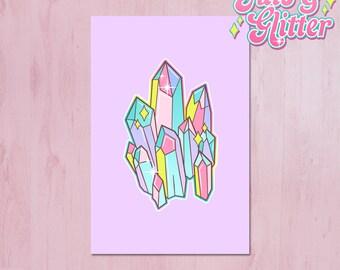 Crystal, Pastel Mini Print