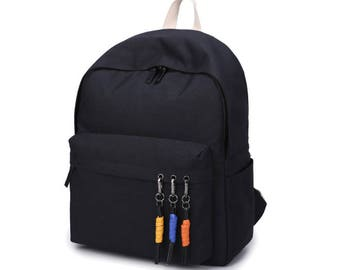 Basic Poly Backpack (Black)