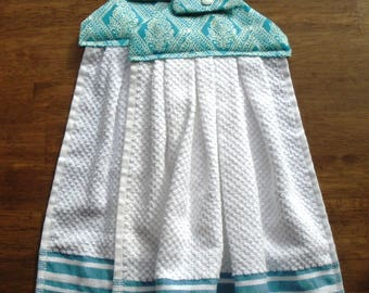 Simply Teal Hanging Dish Towels (Set of 2)