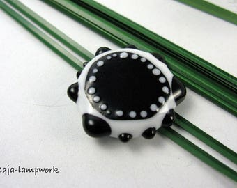 Removable top, glass top, black-white, ca. 32 mm