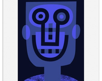 Blue Bloke - Limited edition fine art print by Lo Cole