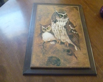 Large Painting of Owls