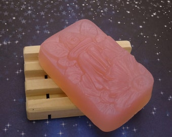 Black Amber & Lavender Glycerin Soap-Handmade-Fairy Bar-Vanilla-Egyptian Musk-Clary Sage-Nicely Scented-Biodegradable Shrink Wrap