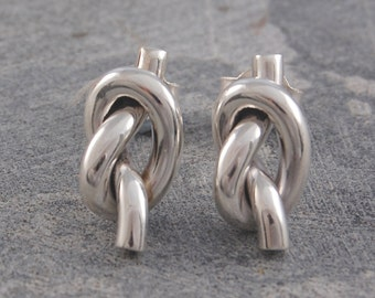 Silver Earrings, Stud Earrings, 925 Earrings, Wedding Earrings, Knot Earrings, Classic Earrings, Statement Earrings, Solid Silver, 925 Studs