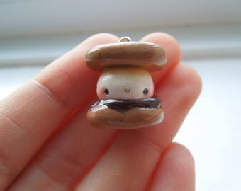 Polymer clay S'more charm