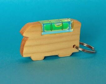 Motorhome Spirit Level Keyring, Motorhome, Campervan, Motorhome Keychain, Campervan keychain, Wooden Keyring, wooden keychain