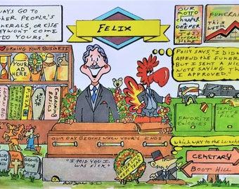 FUNERAL DIRECTOR - UNDERTAKER Personalized Cartoon